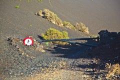 Знак Turnpike и стопа для ходоков Стоковые Фотографии RF