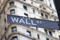 Знак Wall Street Стоковые Изображения