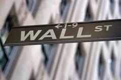 Знак Wall Street, New York стоковые изображения rf