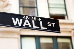 Знак Wall Street, New York стоковое изображение