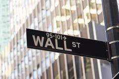 Знак Wall Street, New York Стоковое фото RF