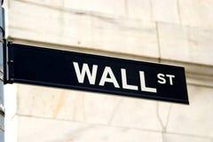 Знак Wall Street, NYC Стоковая Фотография