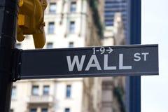 Знак Wall Street, NYC Стоковые Изображения RF