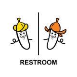 Знак WC Стоковая Фотография