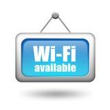 Знак Wi-Fi доступный Стоковые Фото