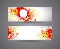 Знамена абстрактной краски для пульверизатора Стоковое Изображение RF