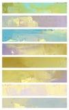 Знамена акварели стоковое фото rf