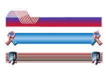 Знамена Америки изолировали Стоковые Изображения RF