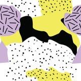 Знамена битника с предпосылками в стиле Мемфиса, 80 ` s, с красочными абстрактными формами Стоковые Фотографии RF