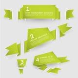 Знамена вектора бумажные в 3 Dimensons Стоковые Фотографии RF
