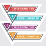 Знамена вектора вариантов для творческие проектная работа иллюстрация штока