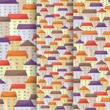Знамена вектора городского пейзажа вертикальные узкие установили в плоский стиль иллюстрация вектора