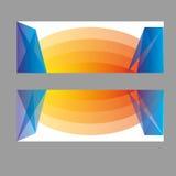 Знамена вектора, знамена сети заголовков Стоковое фото RF