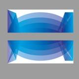 Знамена вектора, знамена сети заголовков Стоковое Изображение