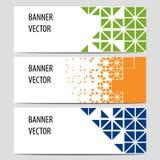 Знамена вектора, комплект Стоковые Фотографии RF