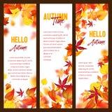 Знамена вектора осени листвы лист падения падая бесплатная иллюстрация