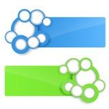 Знамена вектора 3D с кругом. бесплатная иллюстрация