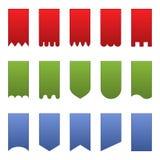 знамена вертикальные Стоковое Изображение RF