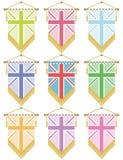 знамена Великобритания иллюстрация штока