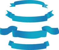 знамена голубые Стоковые Изображения