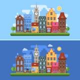 Знамена города весны Европы Стоковые Фото