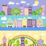 Знамена города Стоковое Изображение