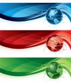 Знамена глобуса Стоковая Фотография
