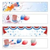 Знамена Дня независимости Стоковая Фотография RF