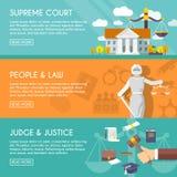Знамена закона горизонтальные плоские бесплатная иллюстрация