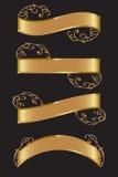 Знамена золота Стоковое фото RF