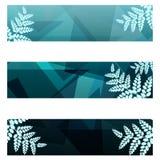 Знамена листвы геометрические Стоковая Фотография RF