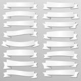 Знамена и ленты белой бумаги Стоковые Изображения RF