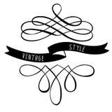 Знамена и ленты элементов дизайна каллиграфии Стоковые Фото