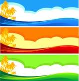 Знамена каникулы лета иллюстрация вектора
