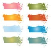 знамена конструируют флористическое Стоковое Изображение