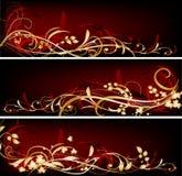 знамена красные Стоковые Изображения RF
