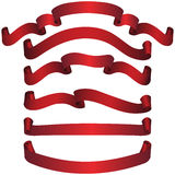 знамена красные Стоковая Фотография RF