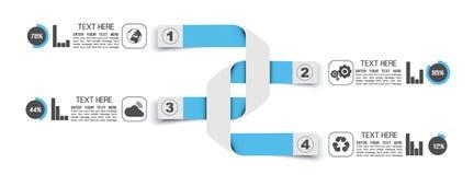 Знамена номера варианта шаблона Stikers иллюстрация вектора