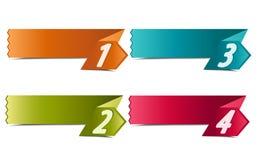 знамена 4 номеров Стоковые Фото