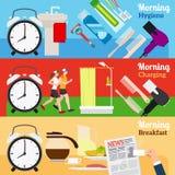 Знамена дня доброго утра новые Стоковое Изображение RF