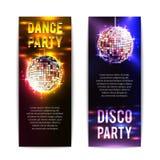 Знамена партии диско вертикальные бесплатная иллюстрация