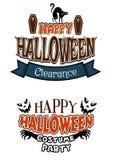 Знамена партии костюма хеллоуина Стоковые Фотографии RF