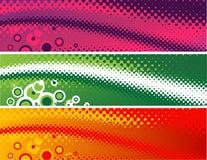 Знамена полутонового изображения Стоковые Изображения