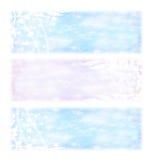 Знамена праздников зимы Стоковые Фото