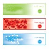 Знамена предпосылки молекулы цветастые Стоковая Фотография