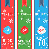 Знамена продажи зимних отдыхов Стоковая Фотография