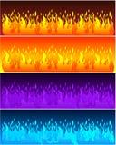 Знамена пламени Стоковые Изображения RF