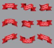 Знамена рождества торжества Стоковые Изображения