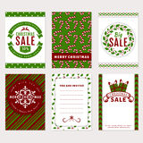Знамена рождества - карточки скидки, приветствия и приглашения Стоковые Изображения RF