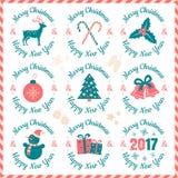 Знамена 2017 рождества иллюстрация вектора